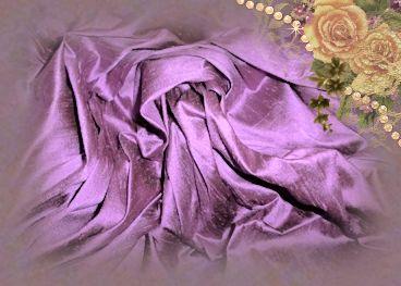 Amethyst Dupioni Silk