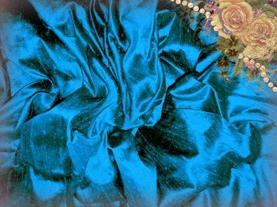 Aquamarine Dupioni Silk
