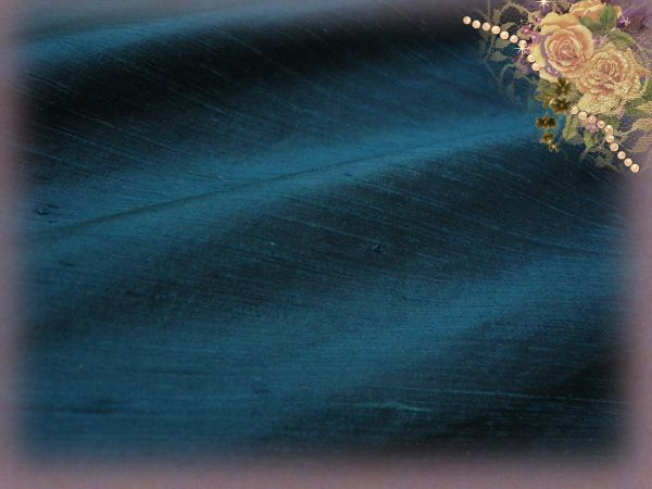 Atlantic Blue Dupioni Silk