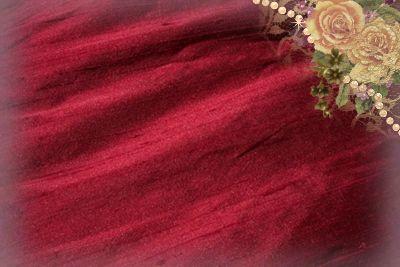 Burgundy Dupioni Silk