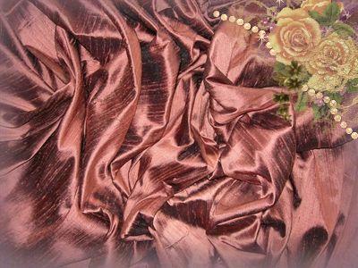 Burnt Sienna Dupioni Silk