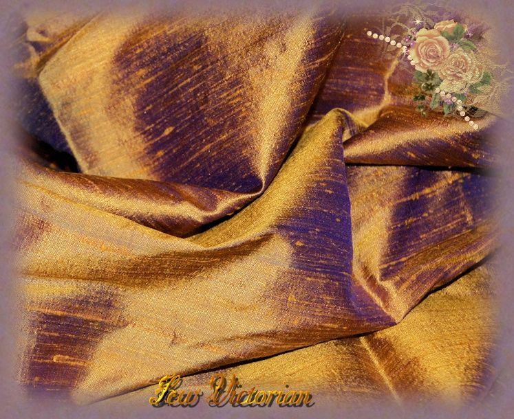 Coppery Violet Dupioni Silk