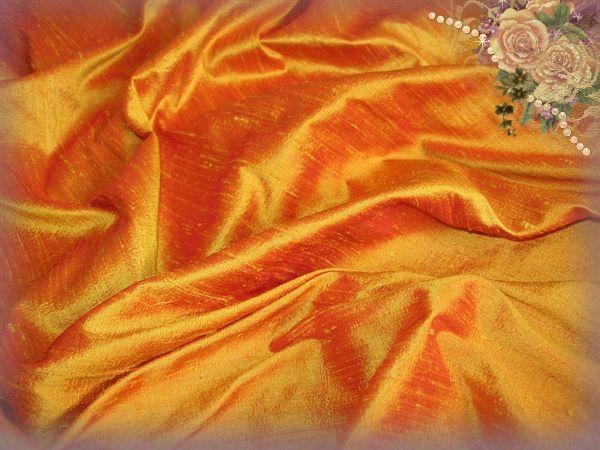 Fiery Swollowtail Dupioni Silk