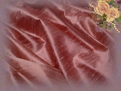 Frosted Cherry Dupioni Silk