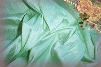 Ice Green Dupioni Silk