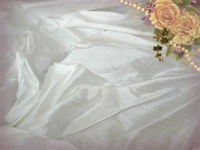 Ivory Dupioni Silk