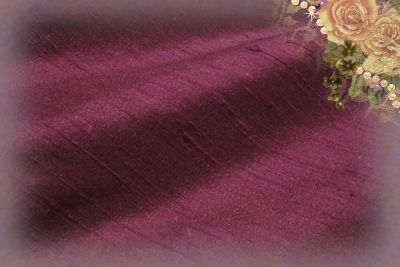 Juicy Plum Dupioni Silk