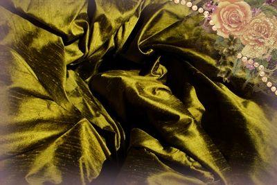 Moss Dupioni Silk