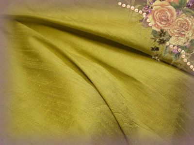 Mustard Dupioni Silk