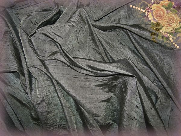 Negative Dupioni Silk