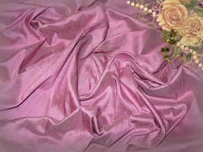 Pink Hydrangea Dupioni Silk