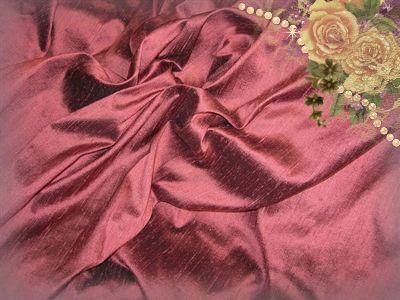 Rosewood Dupioni Silk