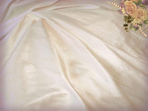 Seashell Dupioni Silk