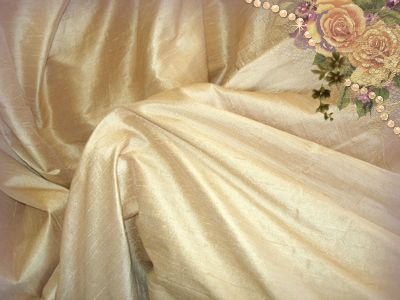 Soft Bronze Dupioni Silk
