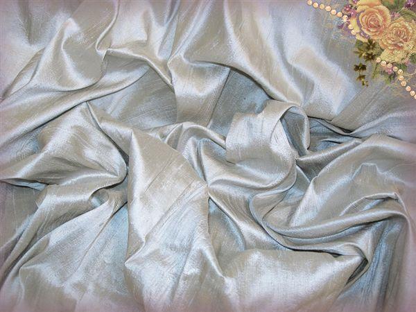 Stormy Sea Dupioni Silk